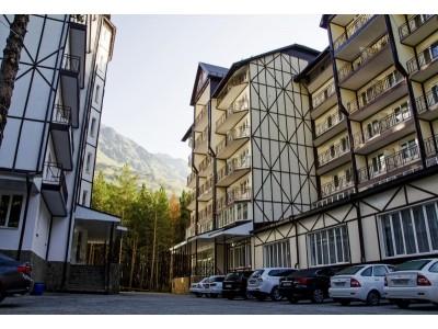 Отель Снежный барс Чегет | Территория , внешний вид